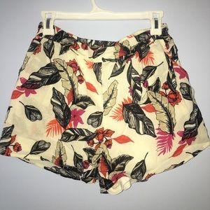 Flowy Floral Pattern Soft Shorts